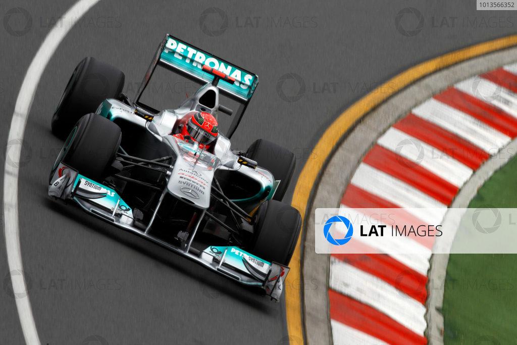 Albert Park, Melbourne, Australia25th March 2011.Michael Schumacher, Mercedes GP W02.World Copyright: Andrew Ferraro/LAT Photographicref: Digital Image _Q0C7953