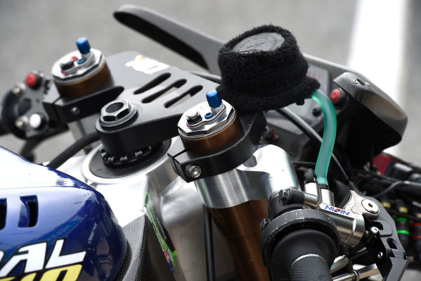 2017 Moto2 Championship - Round 16 Phillip Island, Australia. Thursday 19 October 2017 Xavi Vierge, Tech 3 Racing bike detail World Copyright: Gold and Goose / LAT Images ref: Digital Image 698236