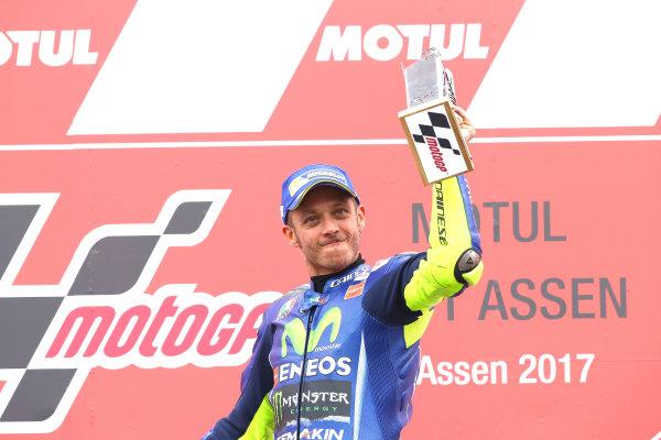 2017 MotoGP Championship - Round 8 Assen, Netherlands Sunday 25 June 2017 Podium: Race winner Valentino Rossi, Yamaha Factory Racing World Copyright: David Goldman/LAT Images ref: Digital Image 680146