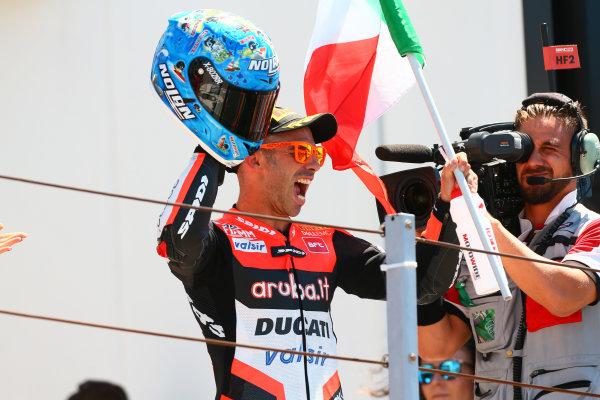 2017 Superbike World Championship - Round 7 Misano, Italy. Sunday 18 June 2017 Podium: Race winner Marco Melandri, Ducati Team World Copyright: Gold and Goose Photography/LAT Images ref: Digital Image WSBK-Post-500-9266 1.20.17 AM