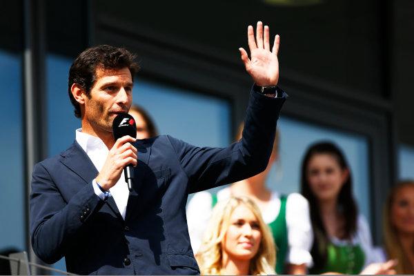 2014 Formula One Austrian Grand Prix, Red Bull Ring, Spielberg, Styria, Austria, 19th - 22nd June 2014.  Mark Webber, Porsche Sportcar driver. World Copyright: ? Andrew Hone Photographer 2014. Ref:  _ONY2633