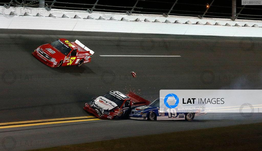 21-23 February, 2013, Daytona Beach, Florida, USA Subject:  Ryan Truex Timothy Peters crash.(c) 2013, Michael L. Levitt LAT Photo USA