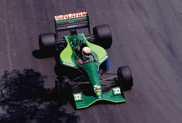 1991 Monaco Grand Prix.Monte Carlo, Monaco. 9-12 May 1991.Bertrand Gachot (Jordan 191 Ford) 8th position.Ref-91 MON 47.World Copyright - LAT Photographic
