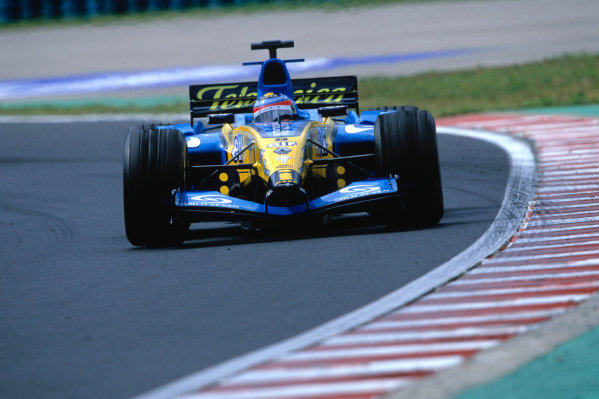 2004 Hungarian Grand Prix Hungaroring, Hungary. 13th - 15th August. Fernando Alonso, Renault R24. Action. World Copyright:Michael Cooper/LAT Photographic Ref:35mm Image:A10