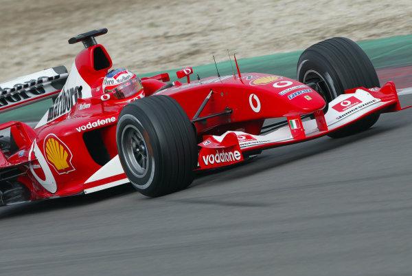 2003 European Grand Prix - Saturday Final Qualifying,Nurburgring, Germany. 28th June 2003 Rubens Barrichello, Ferrari F2003 GA, action.World Copyright: Steve Etherington/LAT Photographic ref: Digital Image Only