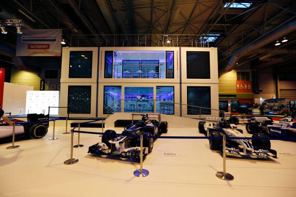 Autosport International Exhibition.  National Exhibition Centre, Birmingham, UK. Thursday 14 January 2016.  The Williams Motorhome in the NEC. World Copyright: Zak Mauger/LAT Photographic. ref: Digital Image _L0U0745
