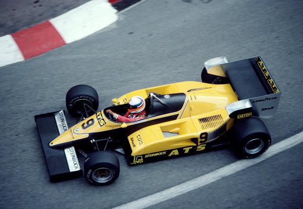 1983 Monaco Grand Prix.Monte Carlo, Monaco.12-15 May 1983.Manfred Winkelhock (ATS D6 BMW).Ref-83 MON 52.World Copyright - LAT Photographic