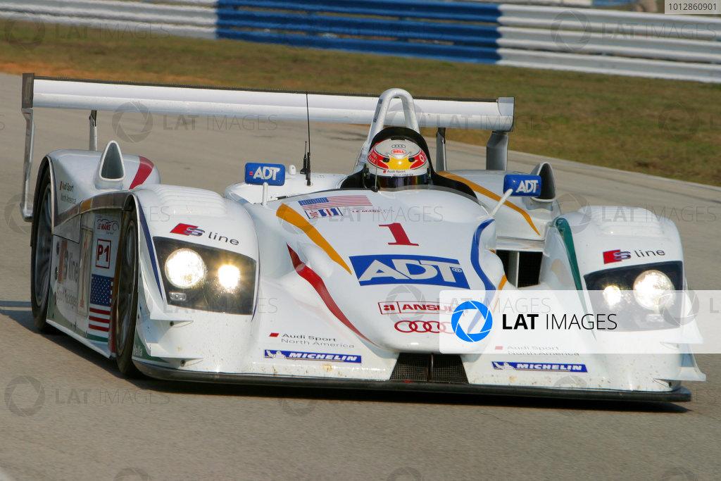 January 31-Feb. 3, 2005, SEBRING INTERNATIONAL RACEWAY CHAMPION AUDI R8, NO 1 OF J J. LEHTO & MARCO WERNER-2005, GREG ALECK