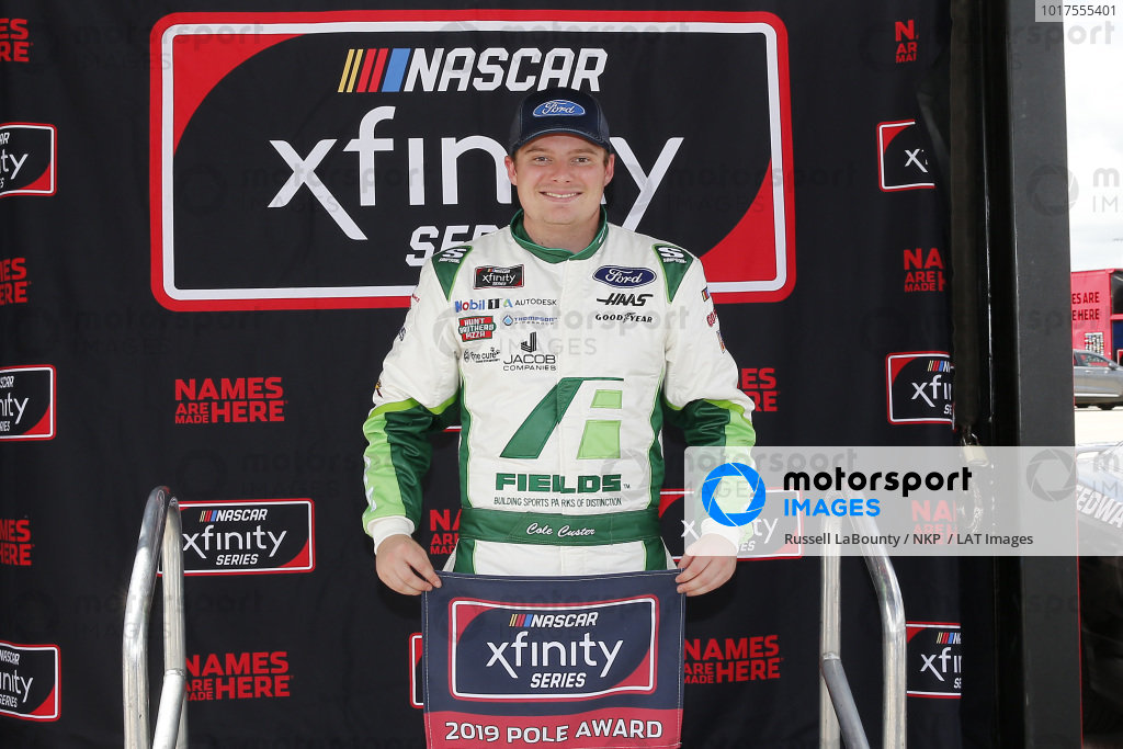 #00: Cole Custer, Stewart-Haas Racing, Ford Mustang FIELDS pole award