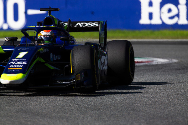 AUTODROMO NAZIONALE MONZA, ITALY - SEPTEMBER 08: Louis Deletraz (CHE, CARLIN) during the Monza at Autodromo Nazionale Monza on September 08, 2019 in Autodromo Nazionale Monza, Italy. (Photo by Joe Portlock / LAT Images / FIA F2 Championship)
