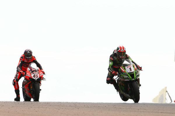 Jonathan Rea, Kawasaki Racing Team, Scott Redding, Aruba.it Racing Ducati.