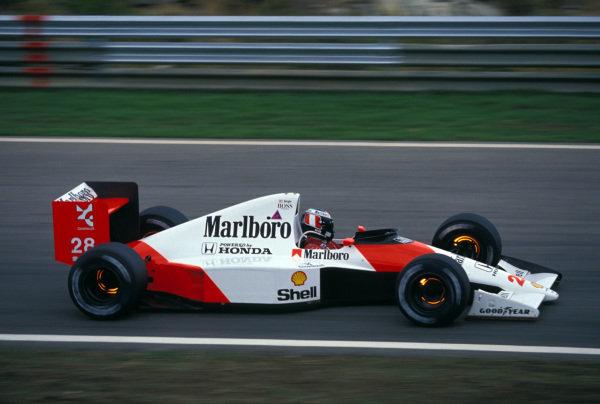 Gerhard Berger, McLaren MP4-5B Honda.