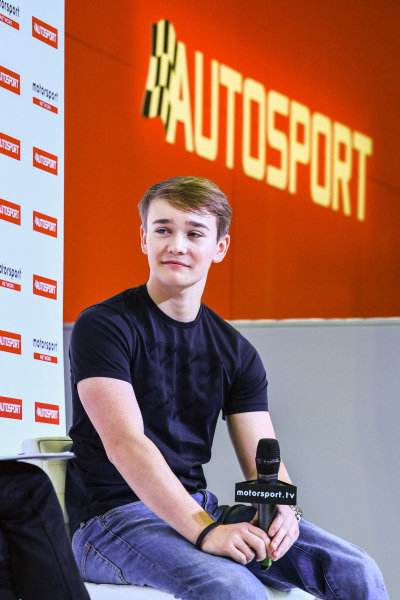 Billy Monger on stage