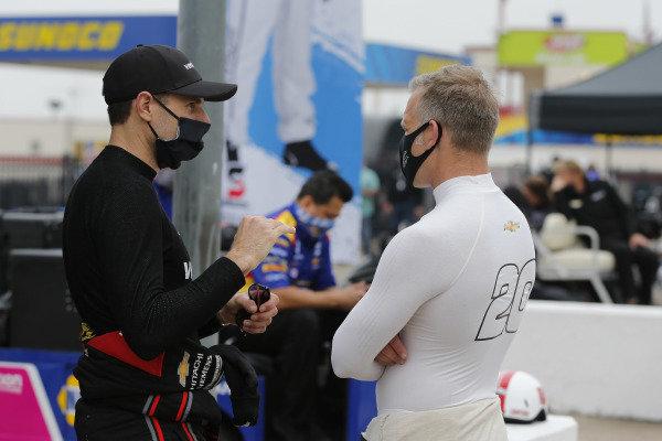 #12: Will Power, Team Penske Chevrolet, #20: Ed Carpenter, Ed Carpenter Racing Chevrolet