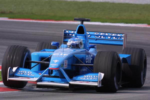 2001 Malaysian Grand Prix.Sepang, Kuala Lumpur, Malaysia. 16-18 March 2001.Giancarlo Fisichella (Benetton B201 Renault).World Copyright - LAT Photographicref: 8 9MB DIGITAL IMAGE