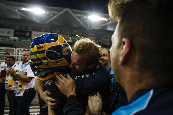 Sergio Sette Camara (BRA, DAMS), celebrates feature race victory in parc ferme