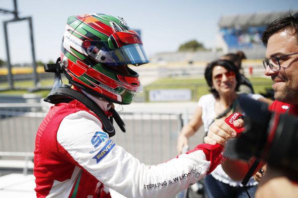 Jehan Daruvala (IND) PREMA Racing, celebrates in Parc Ferme