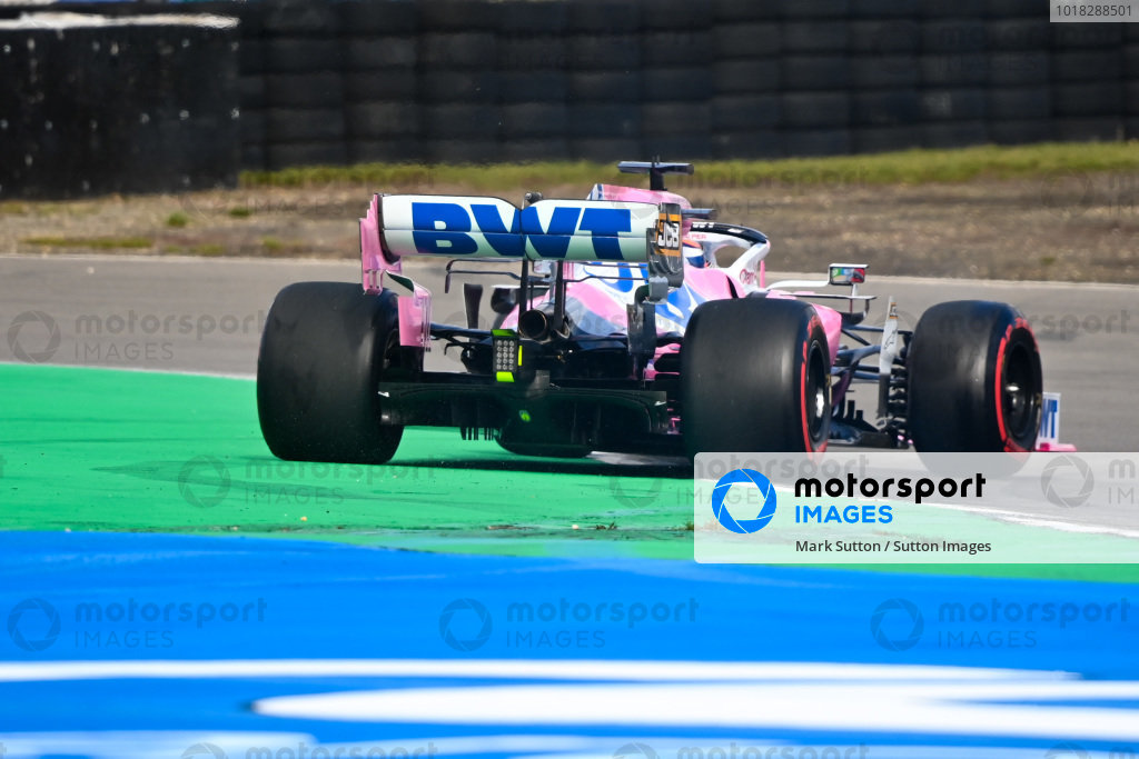 Sergio Perez, Racing Point RP20, spins