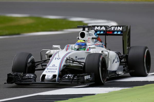 Silverstone, Northamptonshire, UK Friday 08 July 2016. Felipe Massa, Williams FW38 Mercedes. World Copyright: Sam Bloxham/LAT Photographic ref: Digital Image _SBB0239