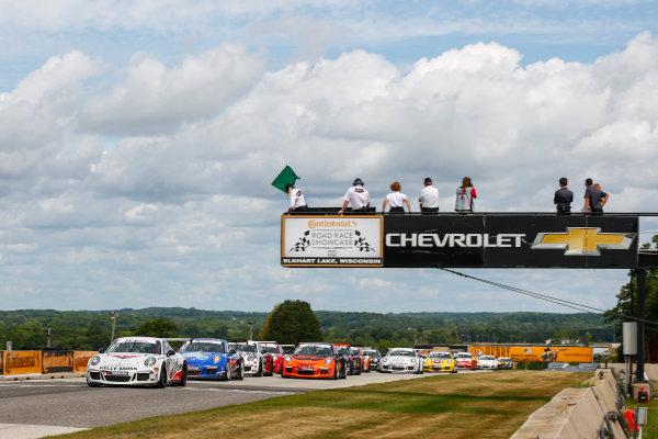 5-7 August 2016, Elkhart Lake, Wisconsin USA IMSA GT3 Cup USA Race 2 Start ?2016, Jake Galstad LAT Photo USA