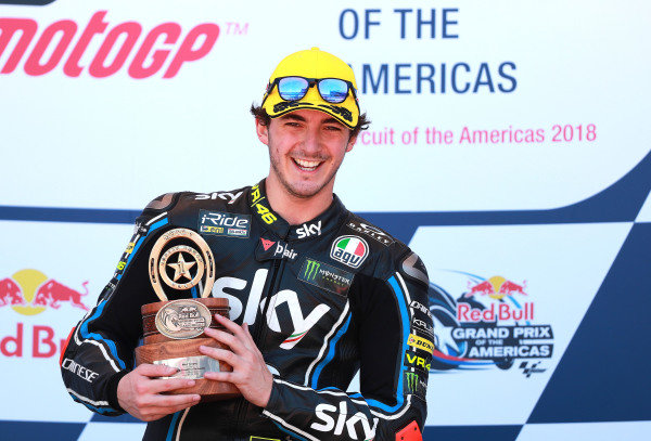 Podium: Race winner Francesco Bagnaia, Sky Racing Team VR46.