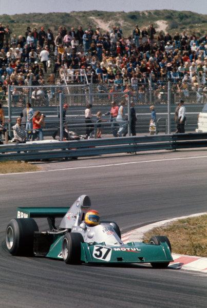1974 Dutch Grand Prix.  Zandvoort, Holland. 21-23rd June 1974.  François Migault, BRM P201.  Ref: 74HOL12. World Copyright: LAT Photographic