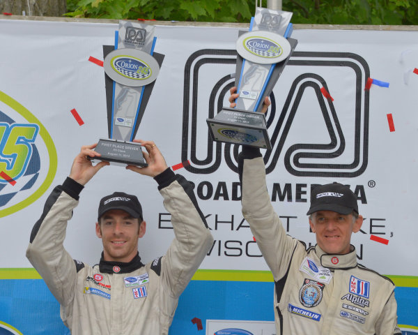 9-11 August, 2013, Elkhart Lake, Wisconsin USA #551 Level 5 Motorsports HPD's Simon Pagenaud and Scott Tucker, winners in P2 class. ©Dan R. Boyd LAT Photo USA