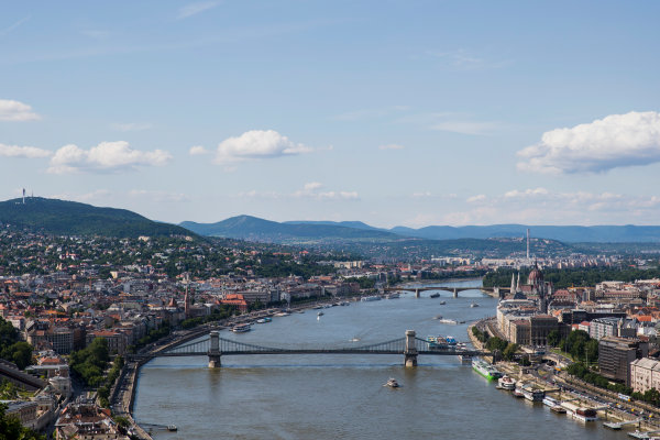 Hungaroring, Budapest, Hungary. Monday 5 June 2017. A view of the city from Citadella. World Copyright: Zak Mauger/LAT Images ref: Digital Image _56I0526