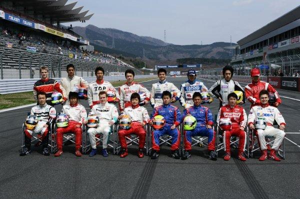 2008 Japanese Formula Three ChampionshipFuji Speedway, Japan. Rounds 1 & 25th - 6th April 2008.2008 Drivers - group photo.World Copyright: Yasushi Ishihara / LAT Photographicref: Digital image 2008JF3_Rd1_009