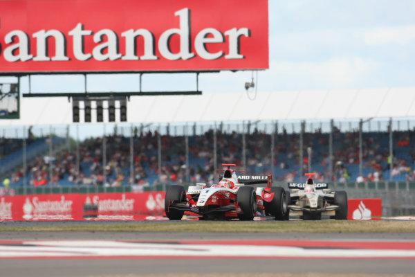Silverstone, England. 11th July.Sunday Race. Jules Bianchi (FRA, ART Grand Prix). Action.Photo: Jakob Ebrey/GP2 Media Service.Ref: _MKO_9092 jpg