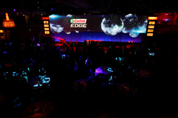 Sunday  Sponsors of the Autosport Awards are displayed on the big screen. World Copyright:Alastair Staley/  ref: Digital Image _O9T8887