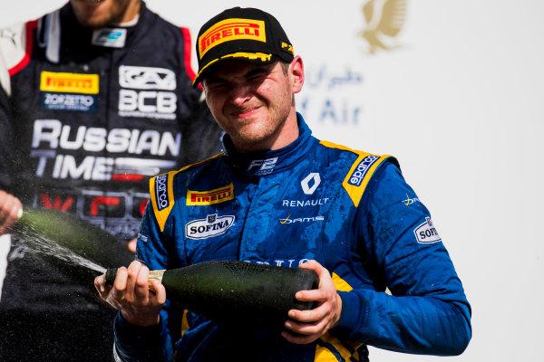 2017 FIA Formula 2 Round 1. Bahrain International Circuit, Sakhir, Bahrain.  Sunday 16 April 2017. Oliver Rowland (GBR, DAMS)  Photo: Zak Mauger/FIA Formula 2. ref: Digital Image _56I2136