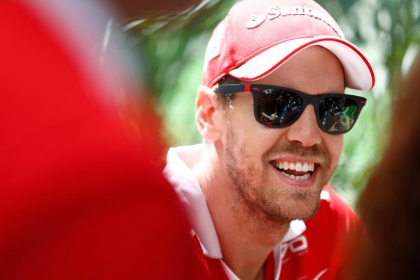 Sochi Autodrom, Sochi, Russia. Thursday 27 April 2017. Sebastian Vettel, Ferrari.  World Copyright: Glenn Dunbar/LAT Images ref: Digital Image _31I7036