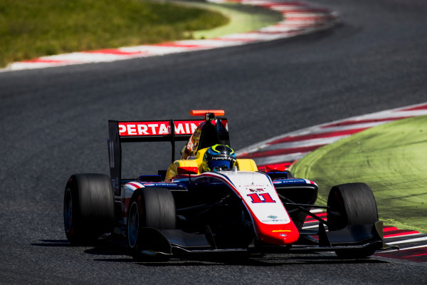 2016 GP3 Series Test 2. Circuit de Catalunya, Barcelona, Spain. Thursday 20 April 2017. Ryan Tveter (USA, Trident)  Photo: Zak Mauger/GP3 Series Media Service. ref: Digital Image _56I5510