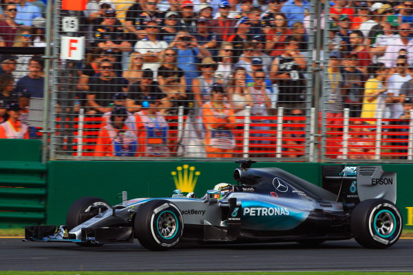 Lewis Hamilton (GBR) Mercedes AMG F1 W06 at Formula One World Championship, Rd1, Australian Grand Prix, Qualifying, Albert Park, Melbourne, Australia, Saturday 14 March 2015.