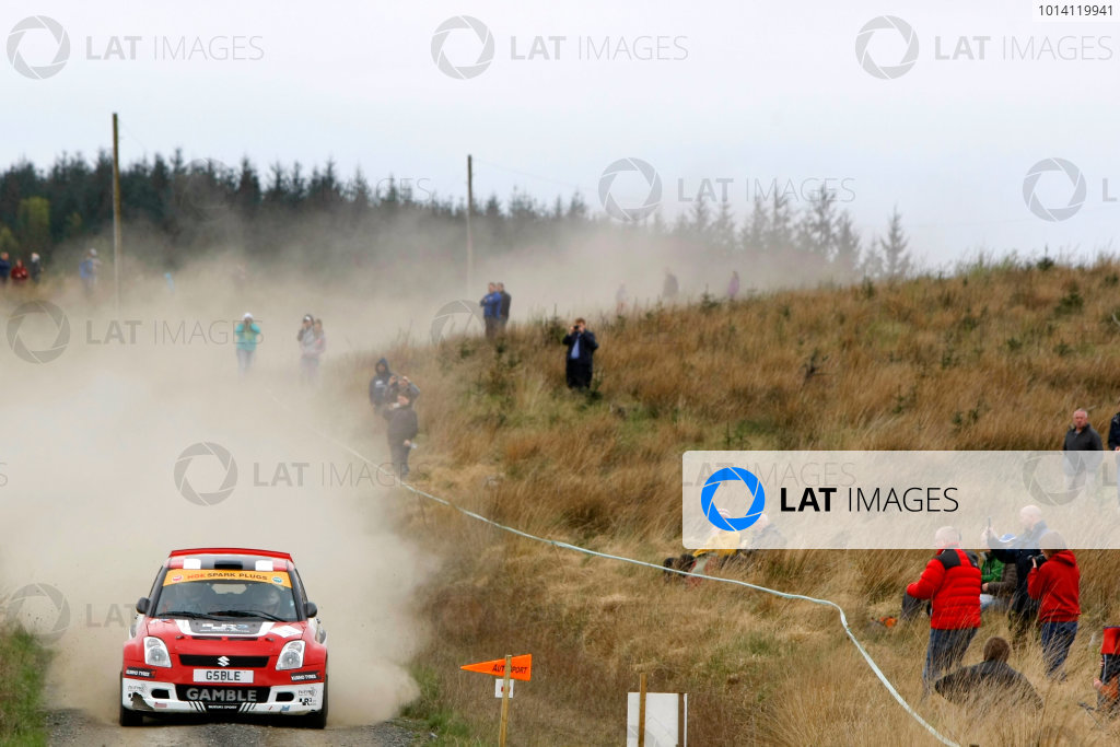 2014 MSA British Rally Championship, Pirelli Carlisle R B Foundation Rally. 3rd - 4th May 2014. Mark Gamble / Stephen Link Suzuki Swift. World Copyright: Ebrey / LAT Photographic.