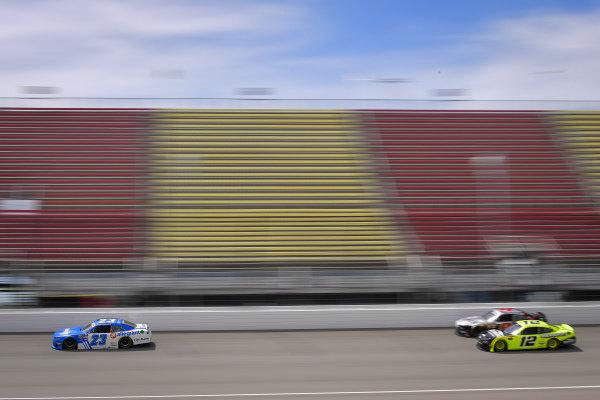 #23: John Hunter Nemechek, GMS Racing, Chevrolet Camaro Fire Alarm Services, INC, #12: Paul Menard, Team Penske, Ford Mustang Menards/Richmond, #9: Noah Gragson, JR Motorsports, Chevrolet Camaro Switch