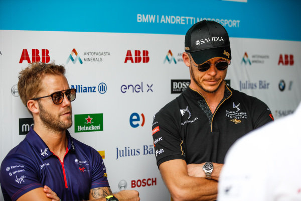 Sam Bird (GBR), Envision Virgin Racing and Andre Lotterer (DEU), DS TECHEETAH