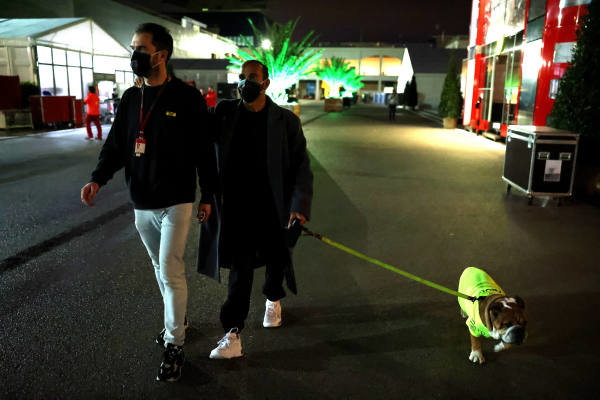 Lewis Hamilton, Mercedes-AMG Petronas F1, leaves the circuit after winning his 7th championship