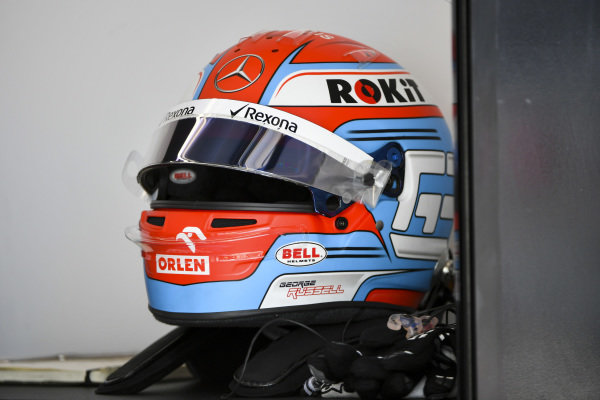 The helmet of George Russell, Williams Racing