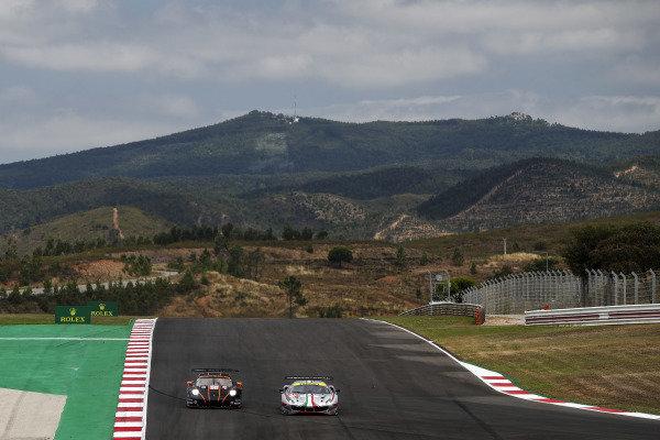 #86 GR Racing Porsche 911 RSR - 19: Michael Wainwright, Benjamin Barker, Tom Gamble and #54 AF Corse Ferrari 488 GTE EVO: Thomas Flohr, Francesco Castellacci, Giancarlo Fisichella