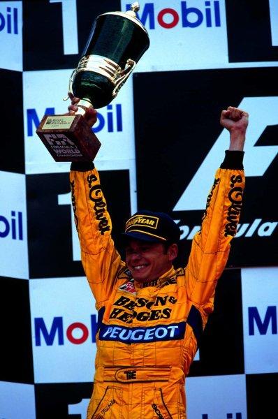 1997 Belgian Grand Prix.Spa-Francorchamps, Belgium.22-24 August 1997.Giancarlo Fisichella (Jordan Peugeot) 2nd position.World Copyright - LAT Photographic