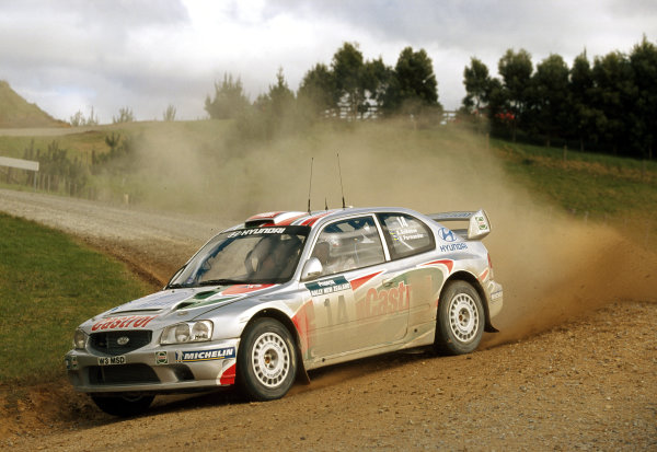 2000 World Rally ChampionshipRound 8, New Zealand Rally14th -16th July 2000Eriksson - Hyundai.World - Mcklein / LAT Photographic