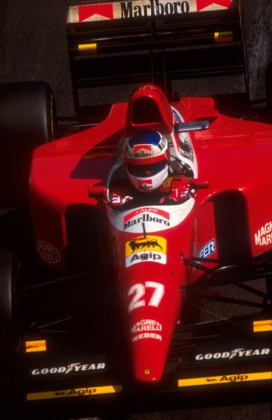 1993 Monaco Grand Prix.Monte Carlo, Monaco.20-23 May 1993.Jean Alesi (Ferrari F93A) 3rd position.Ref-93 MON 05.World Copyright - LAT Photographic