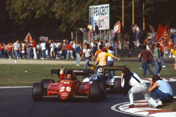 1983 Italian Grand Prix.Monza, Italy.9-11 September 1983.Rene Arnoux (Ferrari 126C3) 2nd position.Ref-83 ITA 13.World Copyright - LAT Photographic