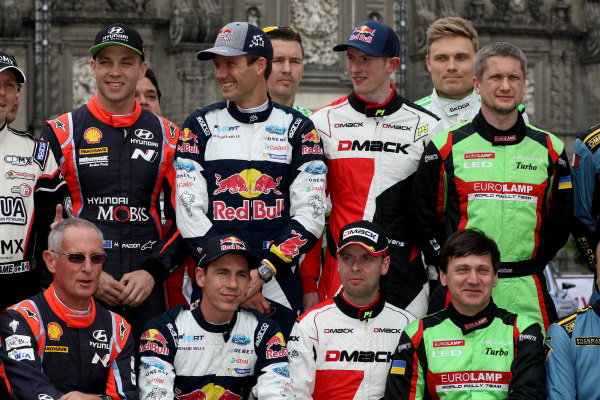 Driver group photo at World Rally Championship, Rd3, Rally Mexico, SS1, Leon, Mexico, 9 March 2017.