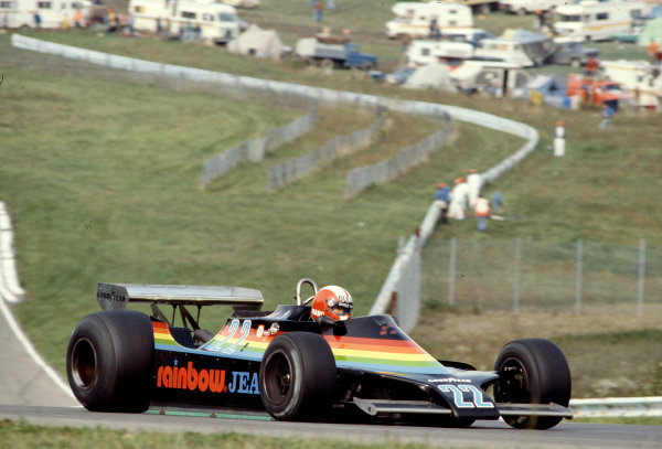 1979 United States Grand Prix East.Watkins Glen, New York, USA.5-7 October 1979.Marc Surer (Ensign N179 Ford). He retired from his Grand Prix debut with engine problems.Ref-79 USA 16.World Copyright - LAT Photographic
