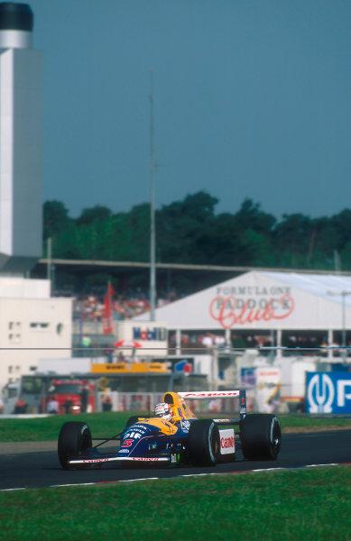 1992 German Grand Prix.Hockenheim, Germany.24-26 July 1992.Nigell Mansell (Williams FW14B Renault) 1st position.Ref-92 GER 03.World Copyright - LAT Photographic