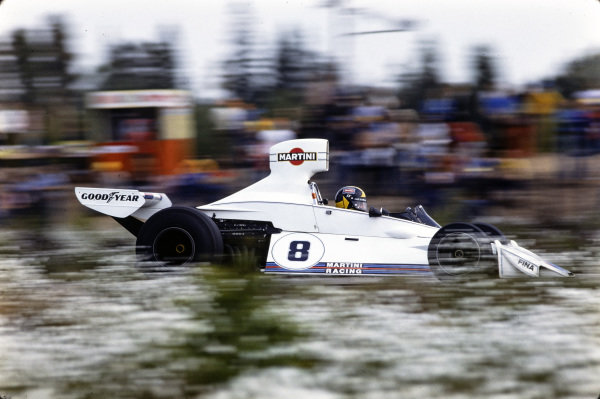 Carlos Pace, Brabham BT44B Ford.