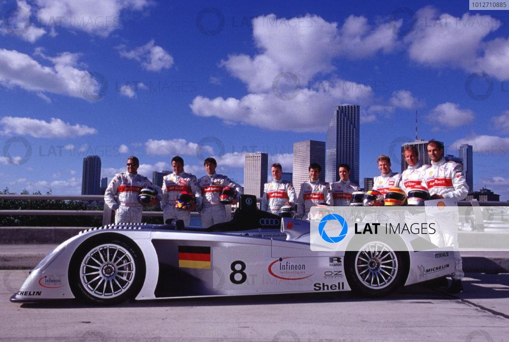 2000 ALMS Audi R8 Launch.